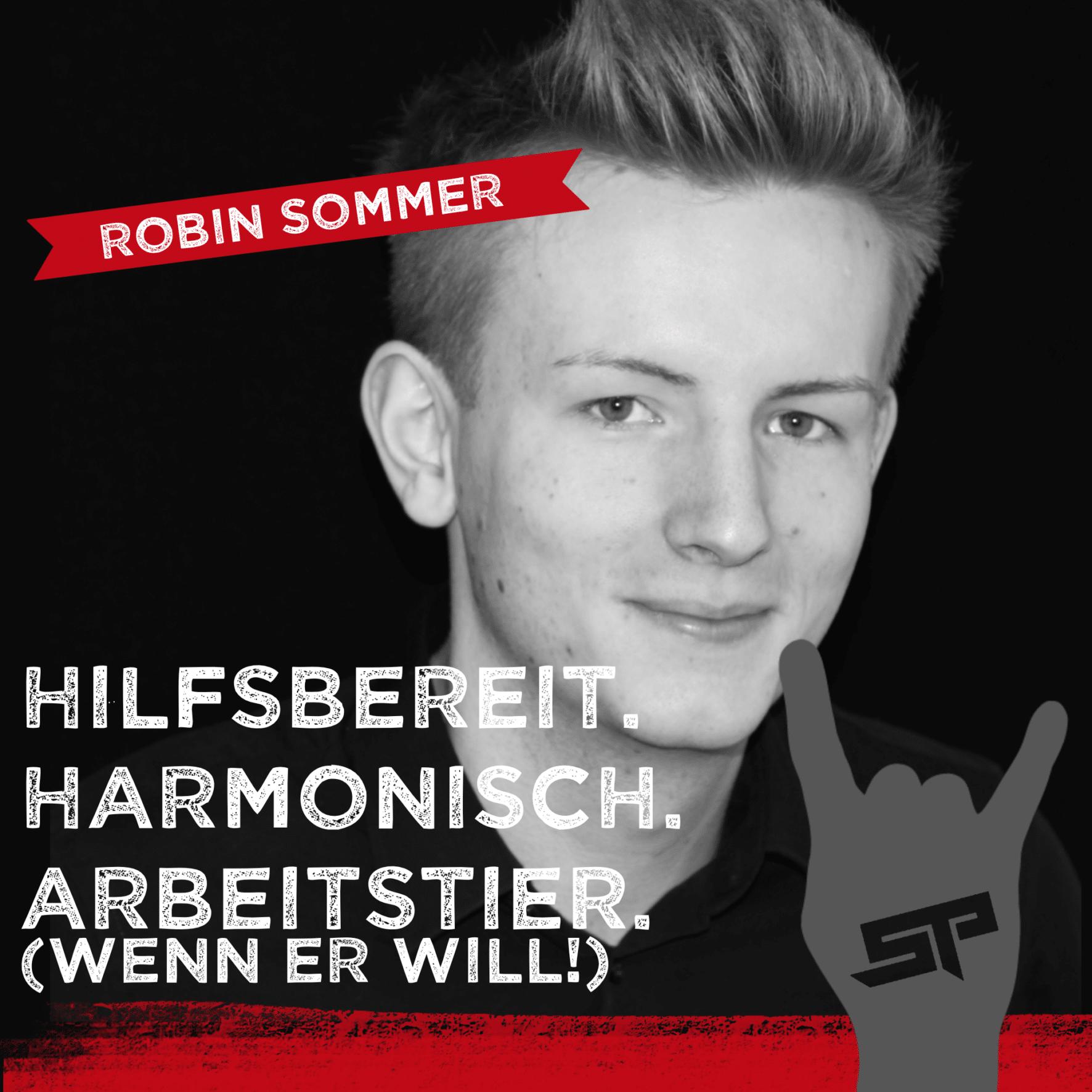 Robin Sommer - Hilfsbereit. harmonisch. Arbeitstier (wenn er will!)